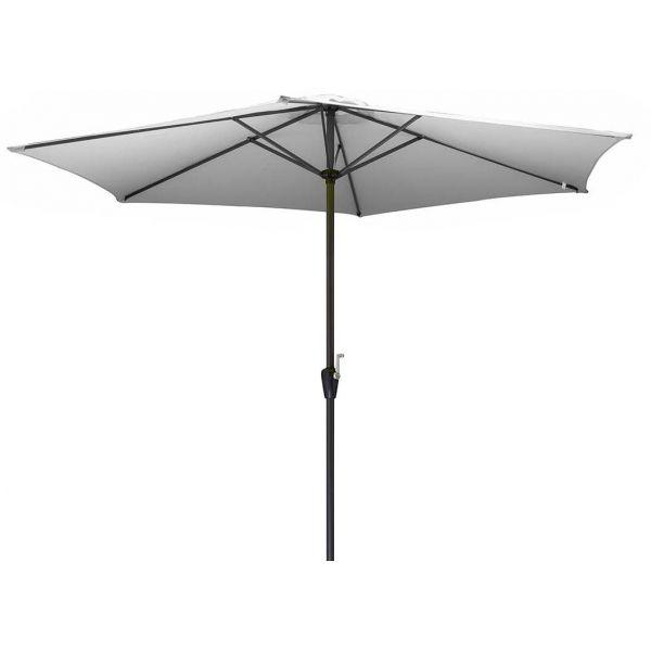 parasol en aluminium 350 cm avec manivelle hug blanc. Black Bedroom Furniture Sets. Home Design Ideas