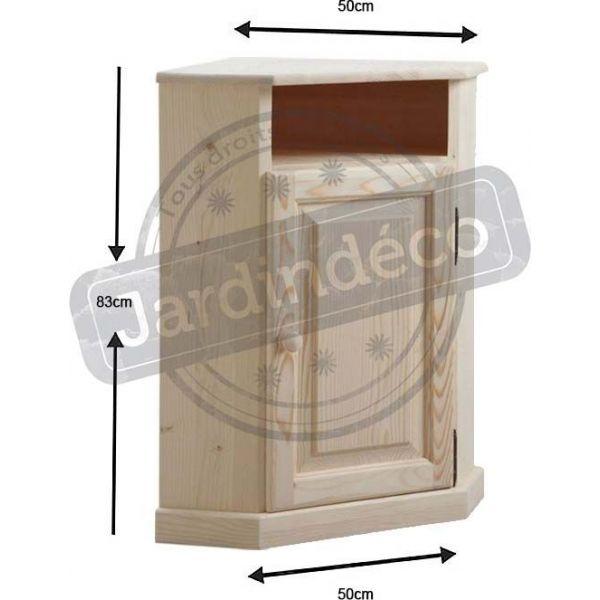 petit meuble d 39 angle en bois brut aubry gaspard jardindeco. Black Bedroom Furniture Sets. Home Design Ideas