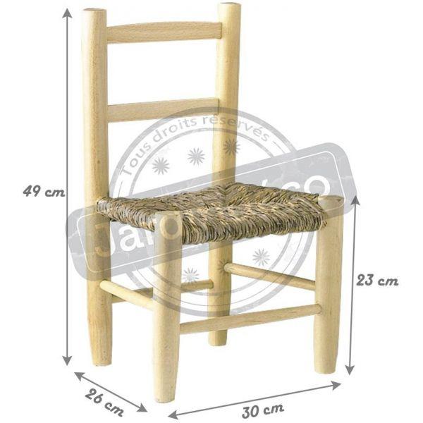 petite chaise bois pour enfant naturel. Black Bedroom Furniture Sets. Home Design Ideas