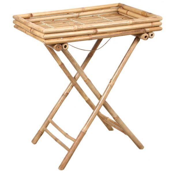 plateau sur pied en bambou. Black Bedroom Furniture Sets. Home Design Ideas