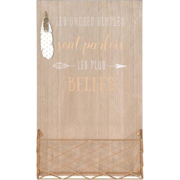 porte courrier mural en bois citation. Black Bedroom Furniture Sets. Home Design Ideas