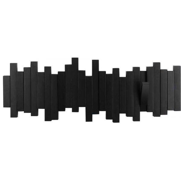 Porte Manteau Design Mural Sticks Noir
