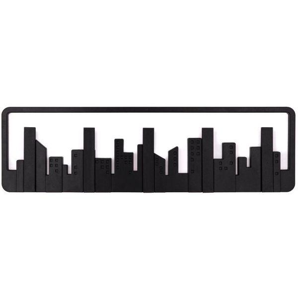 porte manteau mural design skyline noir. Black Bedroom Furniture Sets. Home Design Ideas