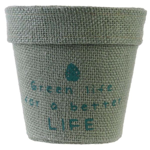 Pot de fleur jute plastifiée My Little Market (Lot de 3) - 6,90