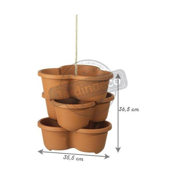 Pots de fleurs Botanic Line (Lot de 3)