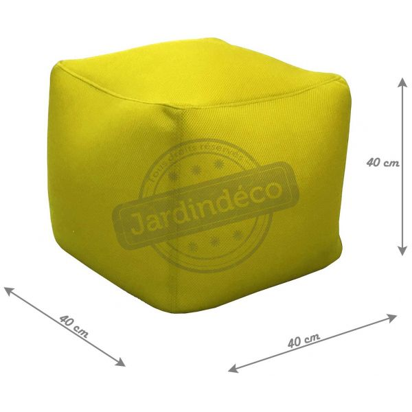 pouf de piscine big bag 40 cm citron. Black Bedroom Furniture Sets. Home Design Ideas