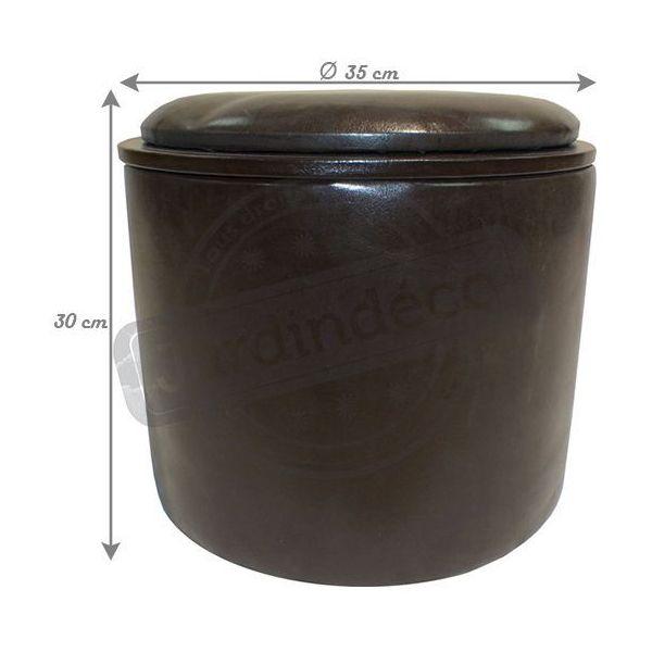 pouf simili cuir reverso marron. Black Bedroom Furniture Sets. Home Design Ideas