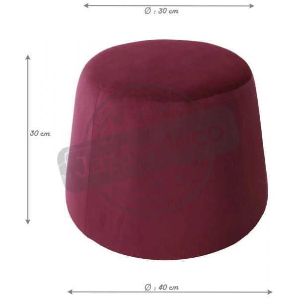 Pouf en velours Dome -