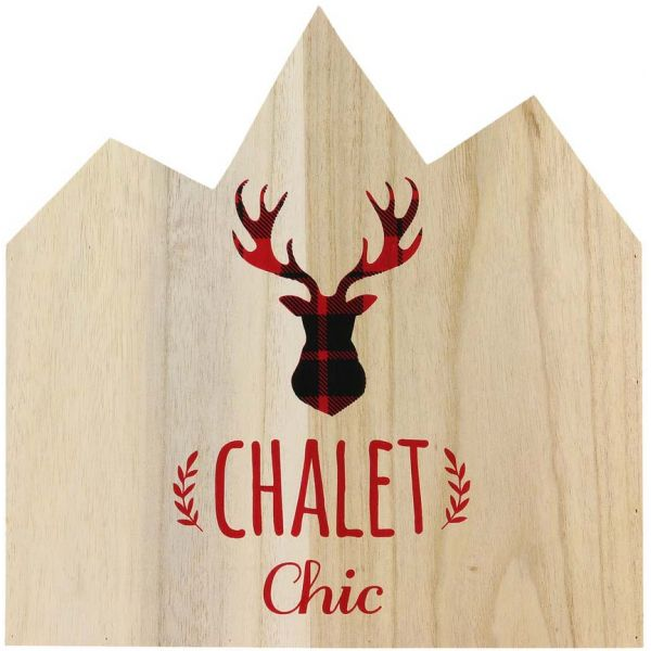 Range magazines en bois Bienvenue au chalet - THE HOME DECO FACTORY