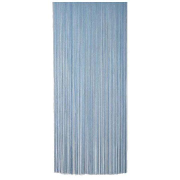 Rideau Fil De Porte En Polyester Bleu