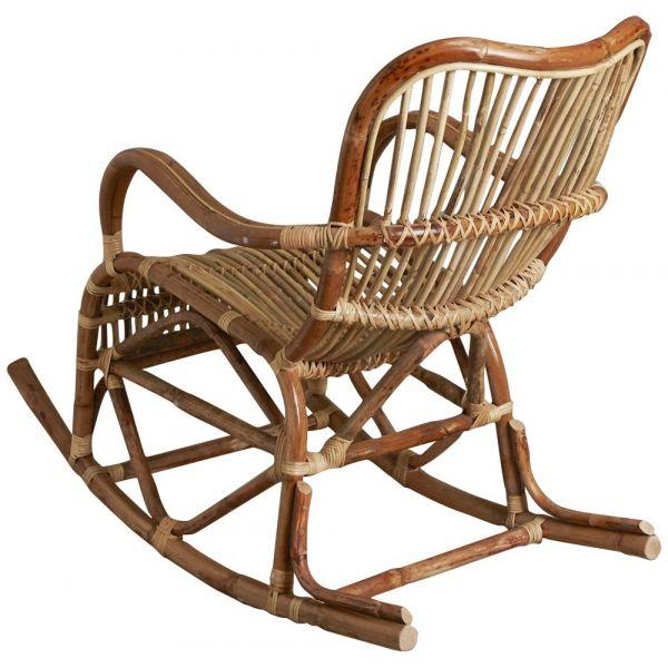 rocking chair en rotin naturel paya. Black Bedroom Furniture Sets. Home Design Ideas