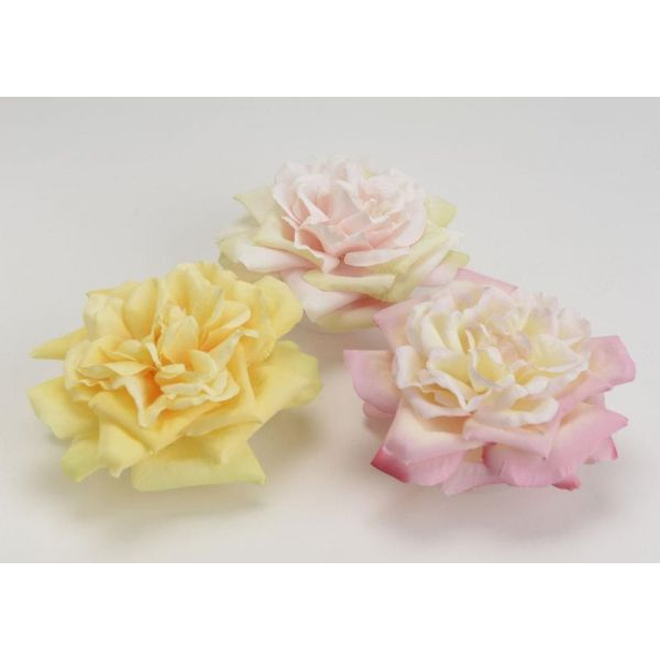 Rose flottante artificielle (lot de 3) - AMADEUS