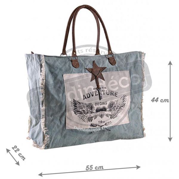 Sac en coton décor Adventure - AUB-3276