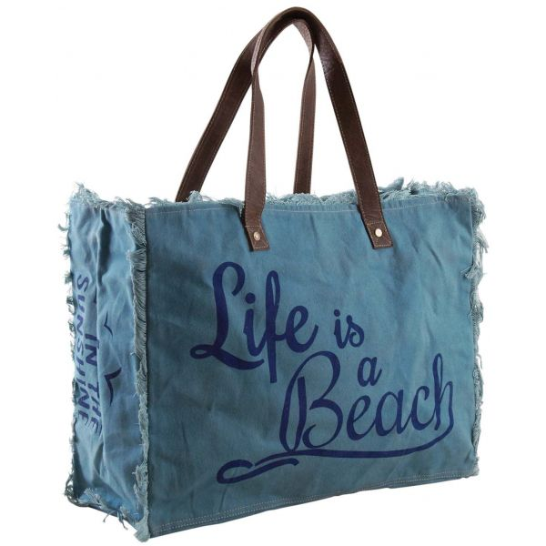 Sac en coton décor Life is a beach