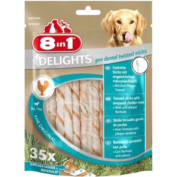 Sachet 35 sticks pour chien garnis de poulet Delights pro dental