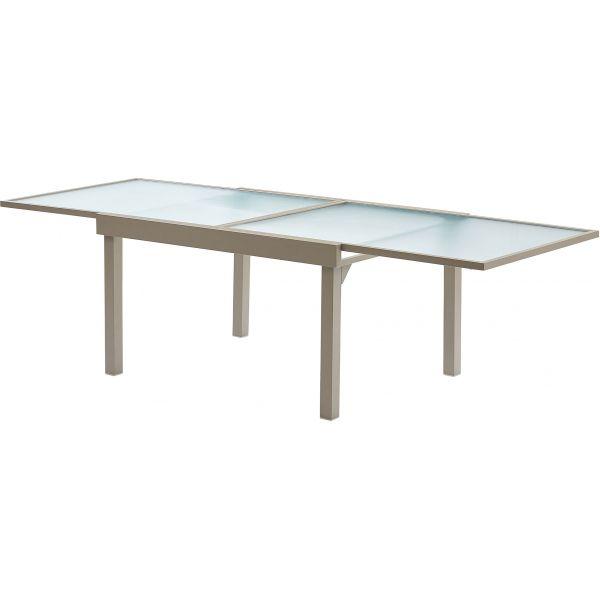 Salon de jardin moderne 10 personnes modulo taupe - Table de jardin moderne ...