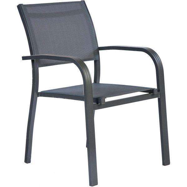 Salon de jardin aluminium et verre 6 fauteuils honfleur (table ...