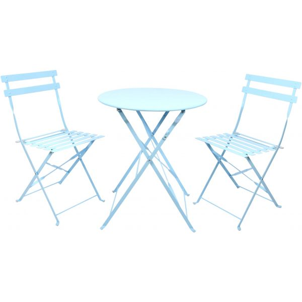Salon de jardin bistrot nuances de bleu