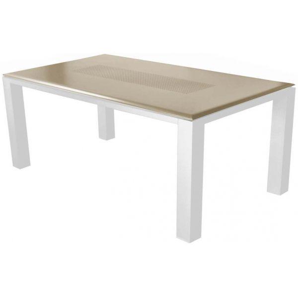 Salon de jardin confortable 6 fauteuils oslo (taupe)