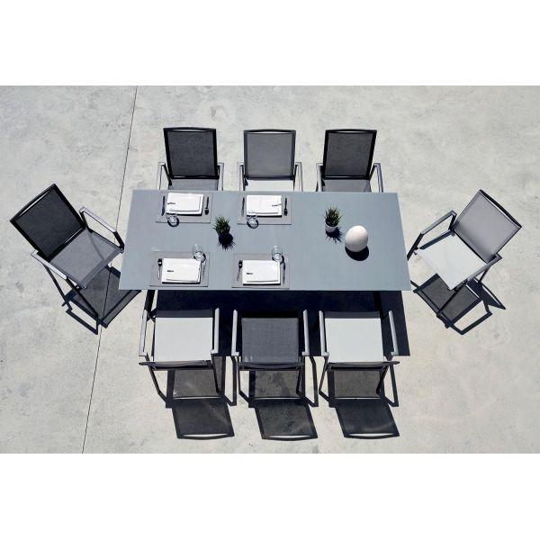 salon de jardin contemporain 8 personnes albi table. Black Bedroom Furniture Sets. Home Design Ideas