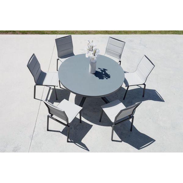Salon de jardin table ronde + 6 chaises Provence