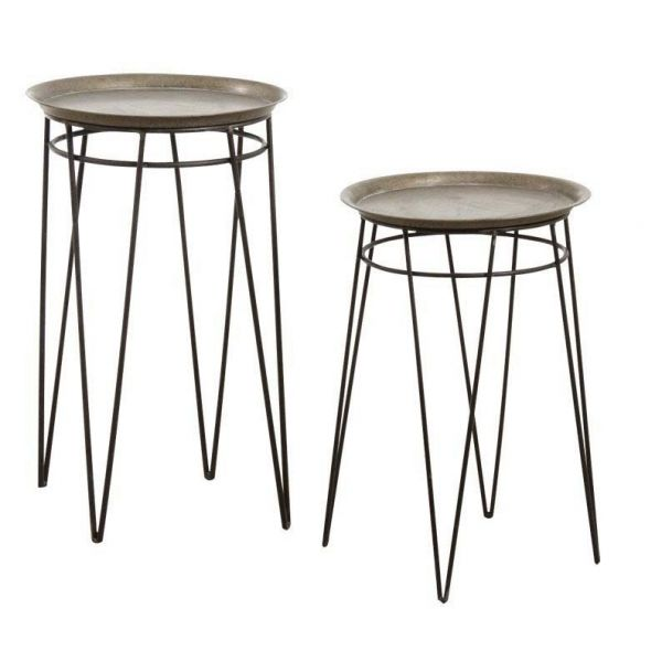 Sellettes en métal Artdéco (Lot de 2)
