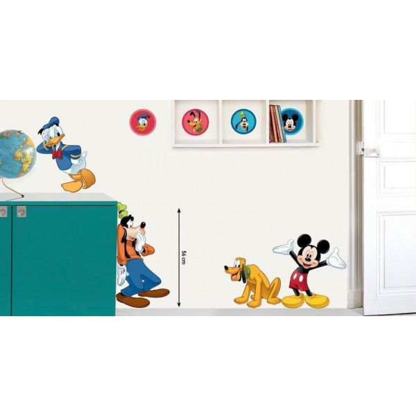 Sticker mural Mickey et 3 copains - 19,47