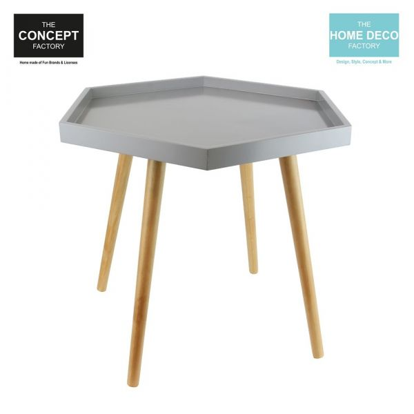 Table d'appoint hexagonale en MDF - THE CONCEPT FACTORY