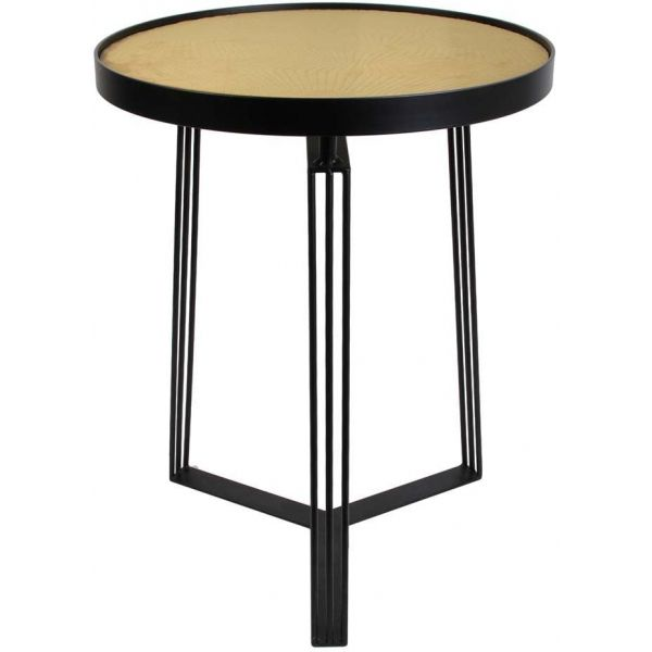 Table d'appoint métal plateau velours 45cm