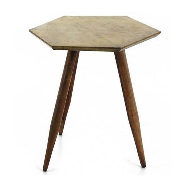 Petite Table En Bois De Rose Dinde Laiton