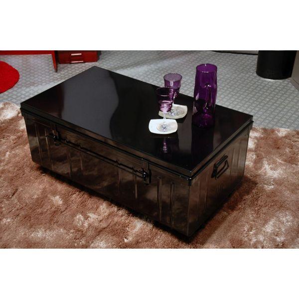 Table Basse Malle En Metal Noir