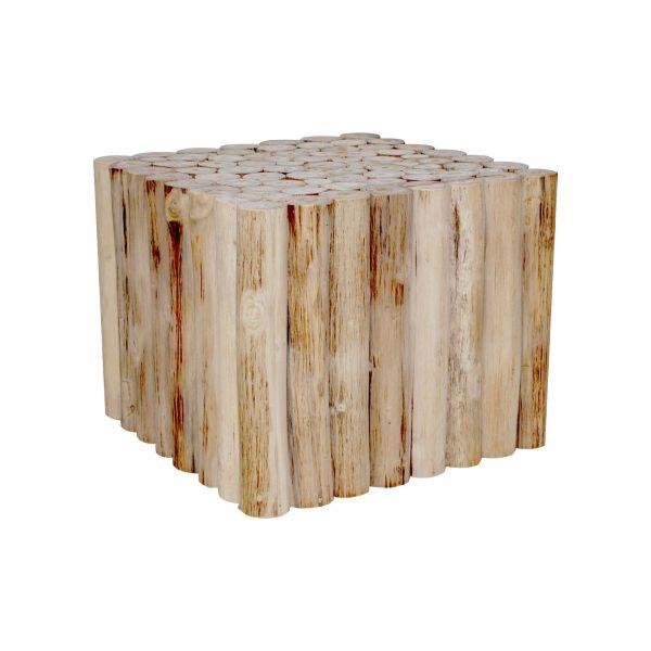 Table Basse En Teck Vernis 50 Cm Refuge