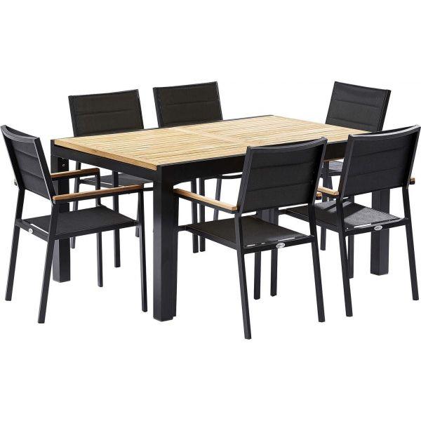 table et chaises de jardin moderne bali 6 fauteuils On table de jardin moderne