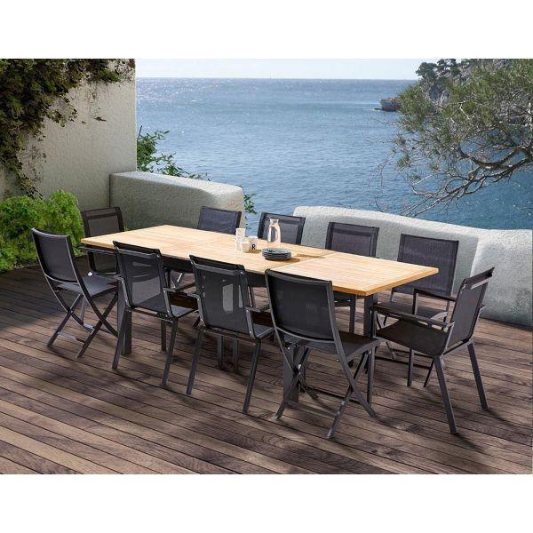 Table et chaises de jardin moderne bali 4 chaises 6 fauteuils - Table de jardin moderne ...