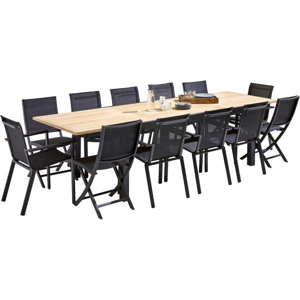 Table et chaises de jardin moderne bali 4 chaises 8 fauteuils - Table de jardin moderne ...