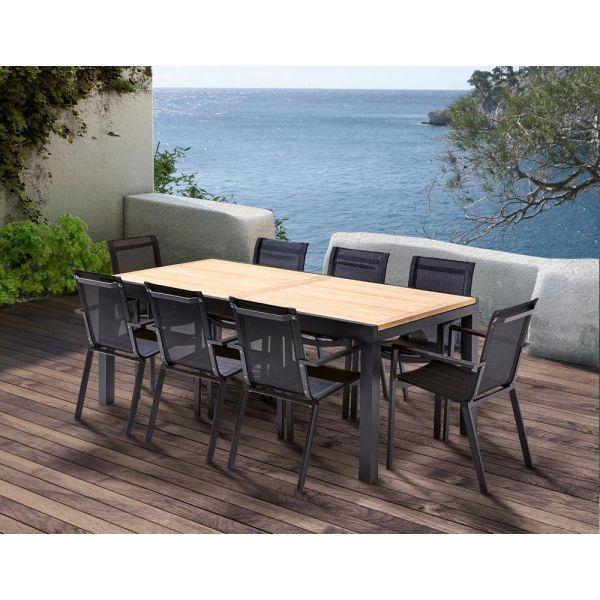 Table Et Chaises De Jardin Moderne Bali 8 Fauteuils