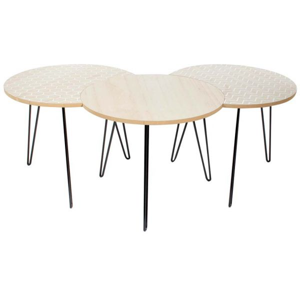 Table gigogne pieds fils (Lot de 3) - THE HOME DECO FACTORY