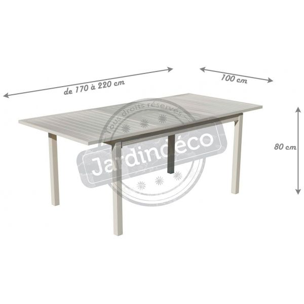 Table de jardin en aluminium extensible Sarana - 5