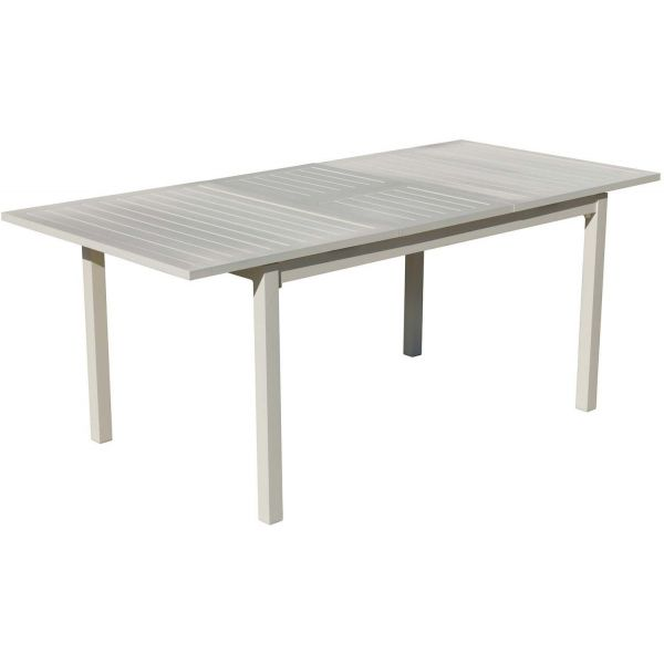 Table de jardin en aluminium extensible sarana