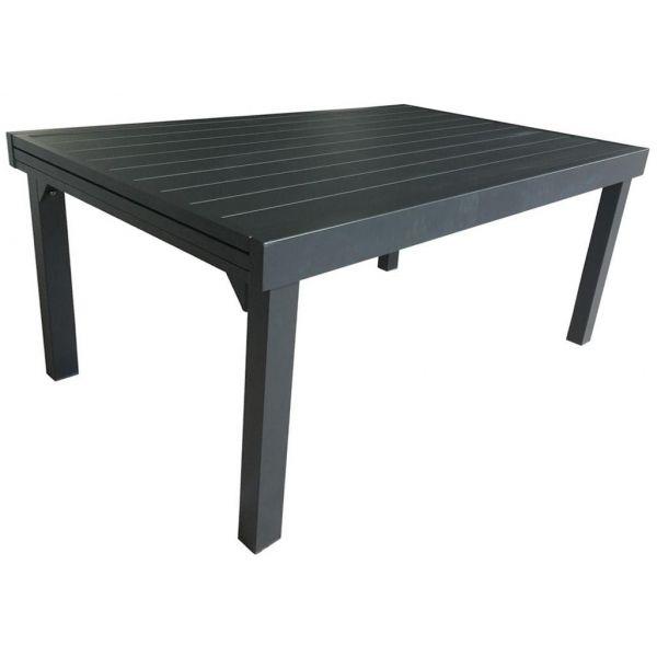 Table jardin full aluminium Modulo 135 à 270 cm