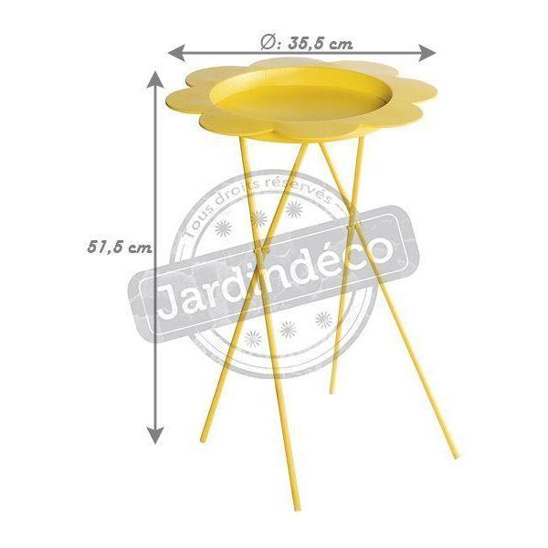 Table plante pliable flower jaune - Table plante ...