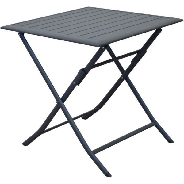 Table pliante en aluminium Lorita