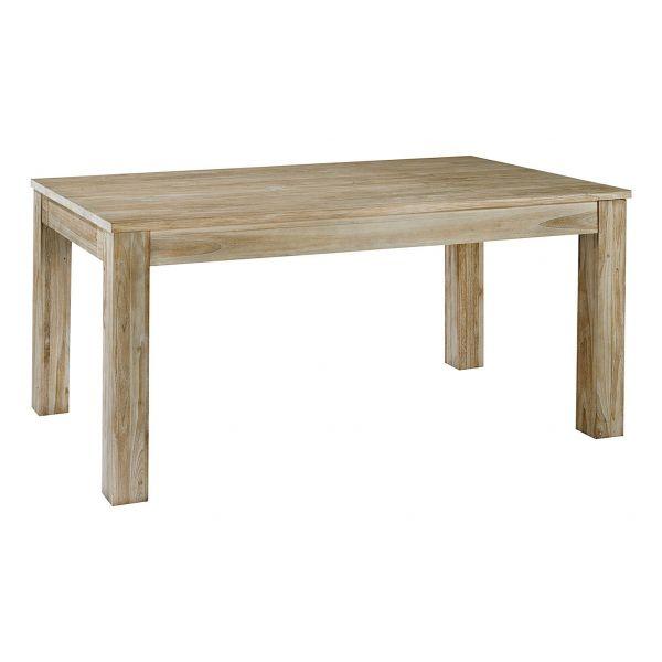 Table repas rectangulaire en teck avec allonge origine taille 1 - Table rectangulaire avec allonge ...