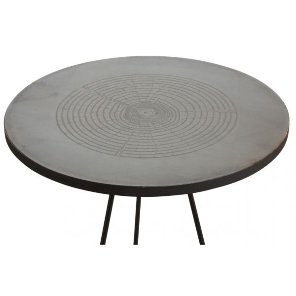 Table ronde métal zinc antique - AUBRY GASPARD