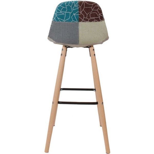 Tabouret de bar scandinave patchwork - 83,90