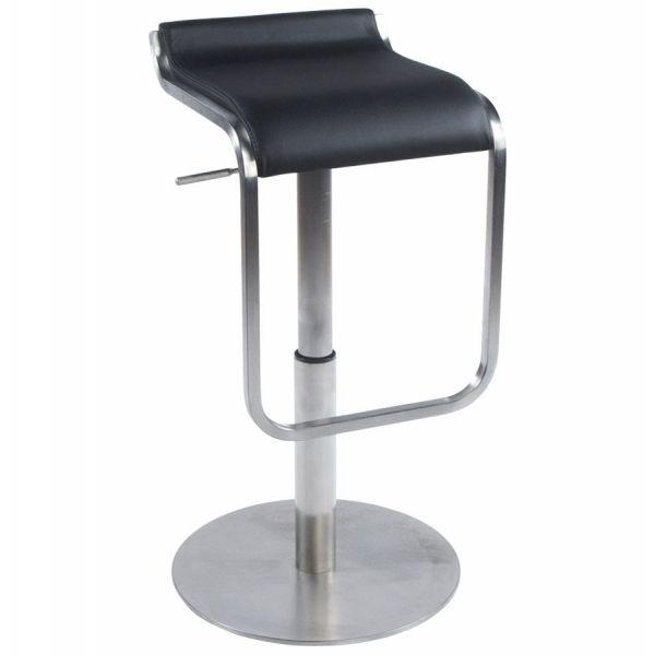 tabouret design avec repose pieds modena noir. Black Bedroom Furniture Sets. Home Design Ideas