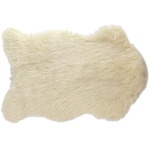 Tapis Fausse Fourrure Cocoon 60 X 90 Cm Blanc