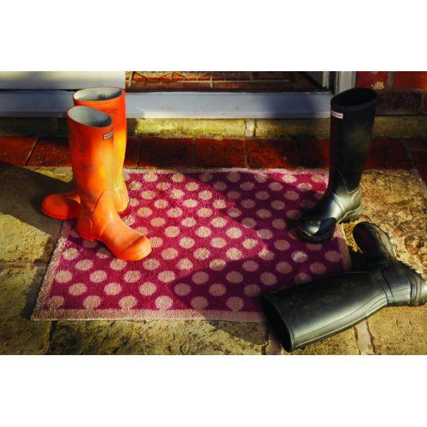 tapis en fibres naturelles pois 65x85 cm spot 11. Black Bedroom Furniture Sets. Home Design Ideas