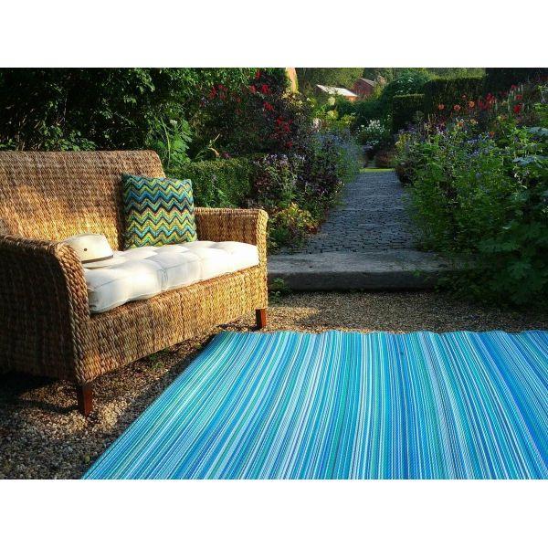 tapis int rieur ext rieur cancun turquoise et vert 150 x 90 cm. Black Bedroom Furniture Sets. Home Design Ideas
