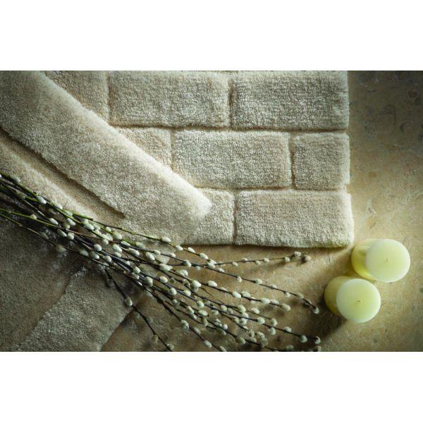 tapis de salle de bain en fibres de bambou cr me. Black Bedroom Furniture Sets. Home Design Ideas